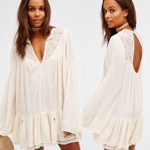 Free People One Night Victorian Tunic Dress Ivory